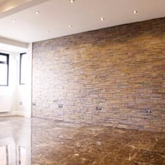 The Barnet Full Conversion:  Walls by The Market Design & Build, Mediterranean