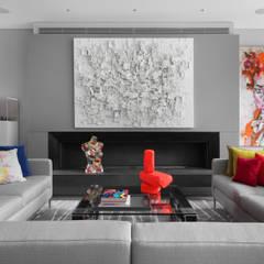 Hamilton Terrace:  Living room by KSR Architects