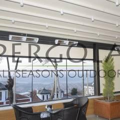 PERGOLA A.Ş. – Motorlu Pergola & i-Zipscreen Dış Mekan Perde:  tarz Dükkânlar