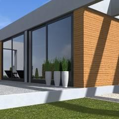 nowoczesny ogród w Olsztynie: styl , w kategorii Taras zaprojektowany przez ap. studio architektoniczne Aurelia Palczewska-Dreszler