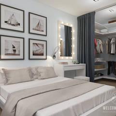 Habitaciones de estilo  por Мастерская дизайна Welcome Studio