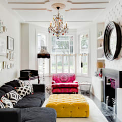 Queens Park House:  Living room by Honeybee Interiors