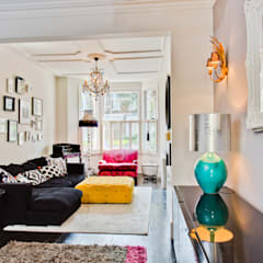 Queens Park House:  Living room by Honeybee Interiors