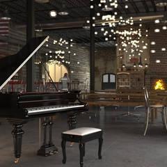 Varios: Salas multimedia de estilo clásico por arkitecto9.com