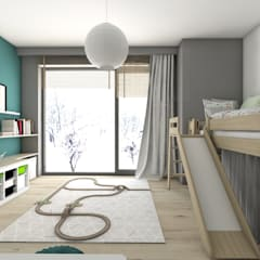 ห้องนอนเด็ก by BAGUA Pracownia Architektury Wnętrz