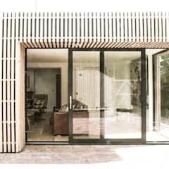 Rear Elevation - Detail at sliding door:  Houses by Klas Hyllen Architects