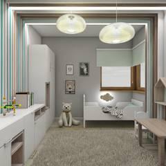Recámaras infantiles de estilo escandinavo por BAGUA Pracownia Architektury Wnętrz