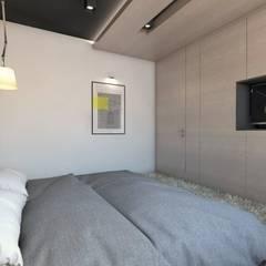 Projekt domu jednorodzinnego 5: styl , w kategorii Sypialnia zaprojektowany przez BAGUA Pracownia Architektury Wnętrz