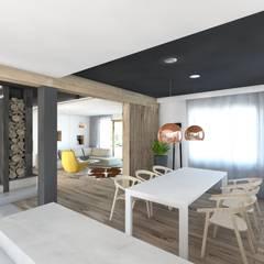 Projekt domu jednorodzinnego 5: styl , w kategorii Jadalnia zaprojektowany przez BAGUA Pracownia Architektury Wnętrz