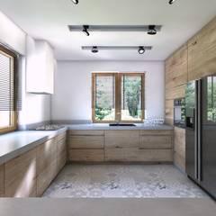 Projekt domu jednorodzinnego 5: styl , w kategorii Kuchnia zaprojektowany przez BAGUA Pracownia Architektury Wnętrz