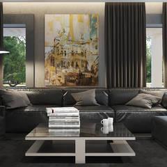 Гостиная в загородном доме MC Interior Гостиная в стиле минимализм