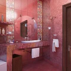 Дом- как мир.: Ванные комнаты в . Автор – Студия Ксении Седой,