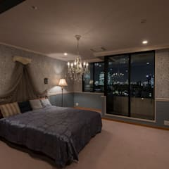 shinagawa: 夏水組が手掛けた寝室です。,クラシック