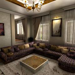 m. rezan özge özdemir – Nijerya Villa Tasarımı:  tarz Oturma Odası