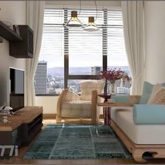 Origami Mobilya – Oturma Odası Tasarımı:  tarz Oturma Odası,