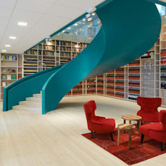 Office staircase Goteburg :  Offices & stores by Stair Factory,