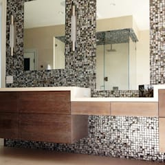 Black Lip Mother of Pearl in Bathroom Renovation in Kentfield, California, USA:  Bathroom by ShellShock Designs