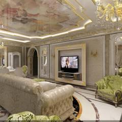 Гостиная: Гостиная в . Автор – Студия дизайна Натали Хованской, Классический