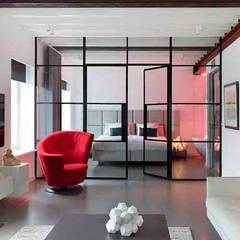 Schelpstraat Den Haag:  Slaapkamer door Architectenbureau Filip Mens