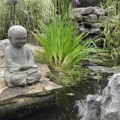 Country Family Garden With Oriental Water Garden: asian Garden by Cherry Mills Garden Design