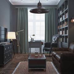 Дизайн кабинета в Баку: Рабочие кабинеты в . Автор – ILKIN GURBANOV Studio,