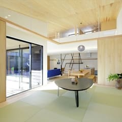 Media room by 長谷川拓也建築デザイン, Asian