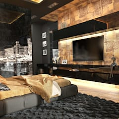 Дом по Рублево-Успенскому шоссе : Спальни в . Автор – GM-interior