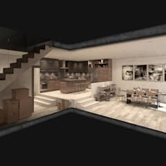 NATURAL LIGHT DESIGN STUDIO – Authentic Lofts:  tarz Mutfak