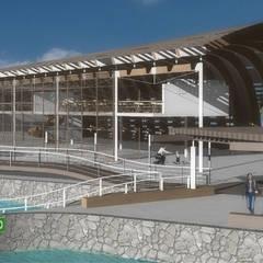 Terminal marítima Isla Mujeres, Quintana Roo: Aeropuertos de estilo  por LEAP Laboratorio en Arquitectura Progresiva