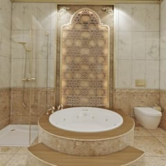 Nuevo Tasarım – Klasik villa projesi: klasik tarz tarz Banyo