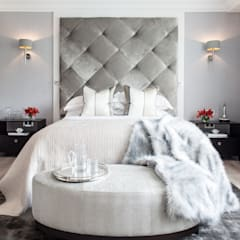 Photography for Kingshall Estates / Vastu Interiors - House in Northwood, London:  Bedroom by Adelina Iliev Photography