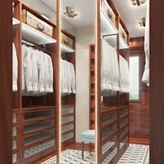 colonial Dressing room by FEDOROVICH Interior