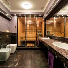 Квартира на Университетском: Ванные комнаты в . Автор – Studio B&L