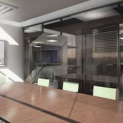 OFICINAS SANTA FE: Centros de exhibiciones de estilo  por gOO Arquitectos