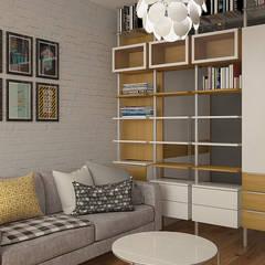 Деревянная шкатулка: Гостиная в . Автор – CO:interior