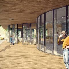 Oranżadziarnia: styl , w kategorii Centra wystawowe zaprojektowany przez PB/STUDIO