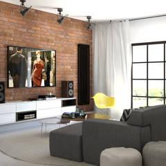 Część dzienna - salon: styl , w kategorii Salon zaprojektowany przez ADV Design