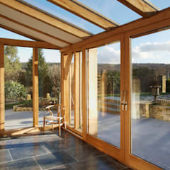 Sustainable Barn Conversion:  Conservatory by Hart Design and Construction