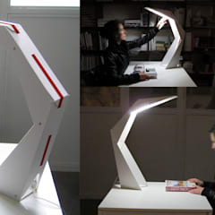 PITAGORA Lamp - Cardboard pushed to the limit: Allestimenti fieristici in stile  di Patrick Suriani