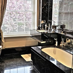 Black Marble Bathroom, Orset Ogle luxury Kitchens & Bathrooms Baños de estilo moderno