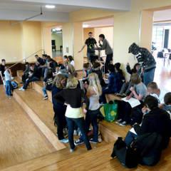 Umbau und Generalsanierung Denkmal Innerstädtisches Gymnasium Rostock:  Multimedia-Raum von buttler architekten