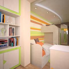 Детская для девочки и мальчика: Детские комнаты в . Автор – Студия дизайна Виктории Силаевой,