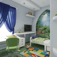 квартира в восточном стиле: Детские комнаты в . Автор – архитектор-дизайнер Алтоцкий Михаил (Altotskiy Mikhail)
