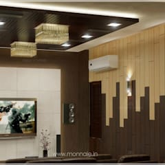 A prestigious Project By Monnaie Interior Designers:  Media room by Monnaie Interiors Pvt Ltd
