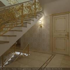 Дизайн холла в стиле Ампир Коридор, прихожая и лестница в классическом стиле от Цунёв_Дизайн. Студия интерьерных решений. Классический