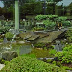 Japangarten in Hannover  - Fokusierung beim Essen sowie beim Lernen:  Bürogebäude von Kokeniwa Japanische Gartengestaltung