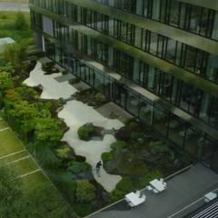 Die Anwendung japanischer Gartenkunst bei der Gestaltung von Gärten:  Bürogebäude von japan-garten-kultur