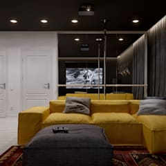 minimalistic Media room by INT2architecture