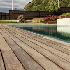 Jardín Contemporaneo: Piscinas de estilo moderno de La Paisajista - Jardines con Alma