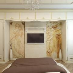 Дизайн спальни в Иваново: Спальни в . Автор – Цунёв_Дизайн. Студия интерьерных решений., Классический